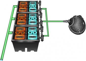 Готовый комплект фильтрации Bio system Set 2 Pondtech