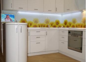 Стеклянный кухонный фартук (скинали) Модульные картины