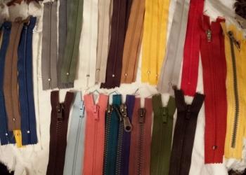 Молнии-застежки для одежды новые разные
