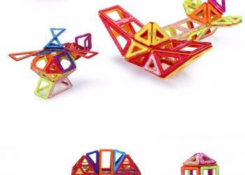 Магнитные блоки. Конструктор. Новая разваивающая игра для детей.