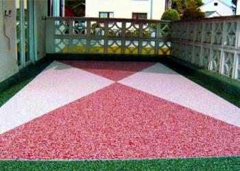 Каменный ковер – наливной пол из цветного песка и гальки для любого вида покрыти