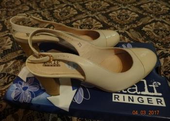Туфли Ralf Ringer бежевые с открытой пяткой, кожа,  размер 37 новые