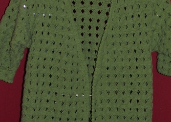 кардиган ручной вязки