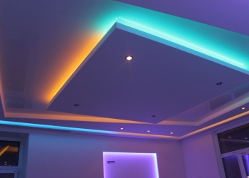 Двух,трех уровневый потолок из гипсокартона