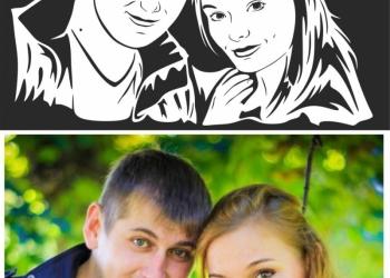 Флип флоп портрет  поп арт стик