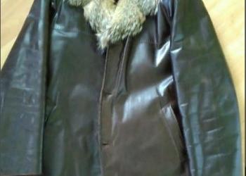 Куртка зимняя, нат мех/кожа