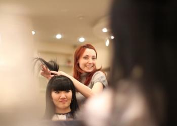 Курсы парикмахеров - практика