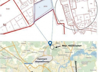 Участок расположен на первой линии Шереметьевского шоссе и улицы Ленина в г.
