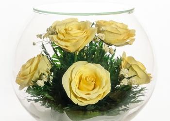 Цветочные композиции для интерьера кремовые розы