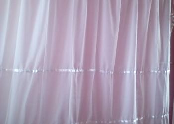 Шторы белые новые готовые декорируемые атласной лентой