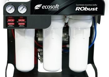 Фильтр обратного осмоса Ecosoft Robust- для подготовки воды в кафе и ресторанах.