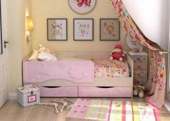 """Детская кровать """"Дельфин"""" с ящиками"""