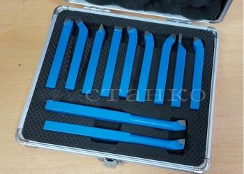 Набор токарных резцов с напайными пластинами сечением 8 мм - 11 шт.
