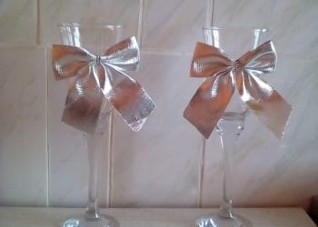 Аксессуары свадебные Фужеры новые красивые под шампанское