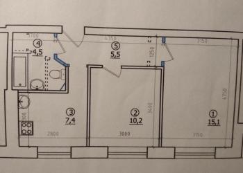 2-к квартира, 42 м2, 1/9 эт.