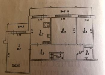 3-к квартира, 84 м2, 3/17 эт.СЖМ