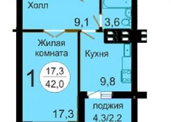 Продам 1 комн. квартиру ул. Батурина, дом 40, мкр. «Слобода весны»