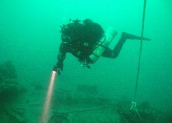 Дайвинг, погружение с аквалангом в черном море