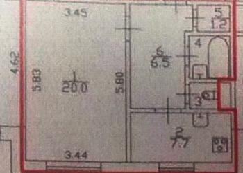 1-к квартира, 39 м2, 1/17 эт.