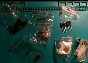 Транзисторы и плёночные конденсаторы