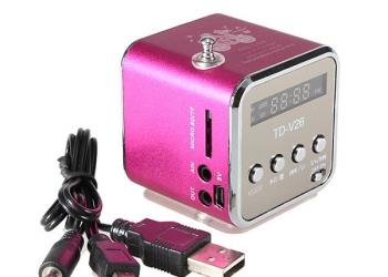 MP3 плеер колонка-бумбокс FM-радио USB+microSD. Идеальный подарок для всех!