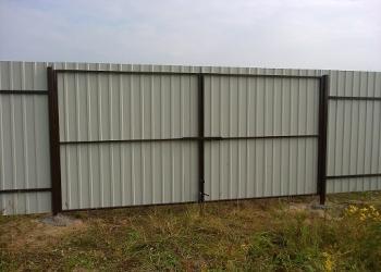 Забор из профнастила, ворота, навес для авто
