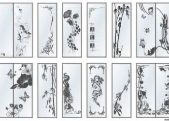 Бесплатные векторные пескоструйные шаблоны рисунки,  для стекла, зеркал в Корел