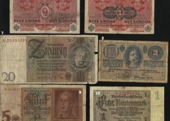 Продажа старинных банкнот. 50 рублей за штуку. Старая Европа