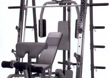 Силовой тренажер Смита HouseFit HG-2017  со скамьей АВ4050 и весами Barbell