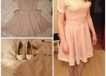 Комплект: Платье на выпускной и белые туфли