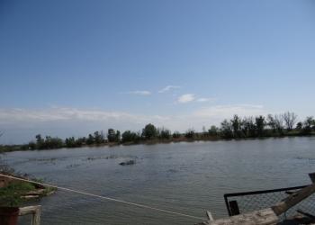 Продаю дом кирпичный 80м2 с удобствами на участке 13 соток на берегу реки Царев