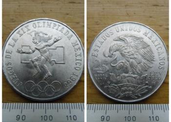 Мексика, 25 песо 1968. Серебро