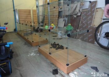 Стеклянная ДСП витрина