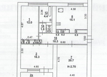 Центр, 3к.кв.,89/50/16, с/у разд., л/з, евро