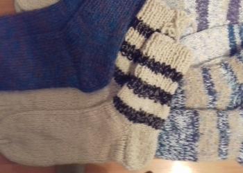 Носки шерстяные вязаные