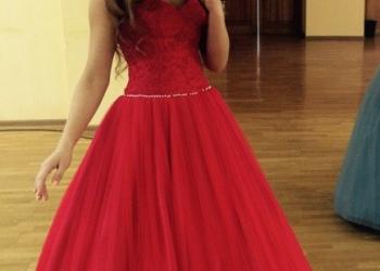 Платье Свадебное/Бальное/Вечернее (красное)
