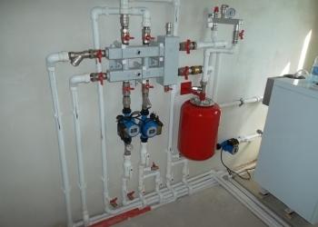 Монтаж отопления,водоснабжения.