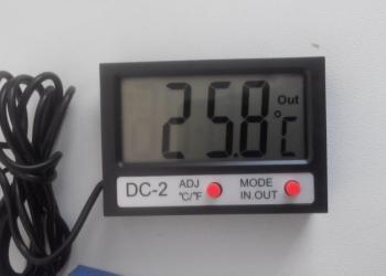 Часы-термометр
