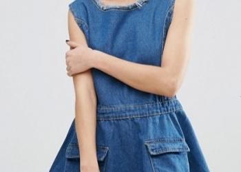 Джинсовое приталенное платье