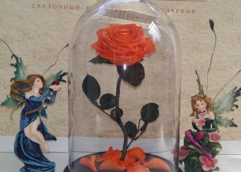 Роза в Колбе 32 см с коробкой и гравировкий