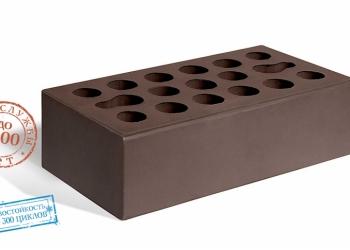 Кирпич керамический лицевой пустотелый одинарный шоколад