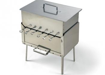 Набор для пикника КЕДР (нержавеющая сталь) мангал+коптильня