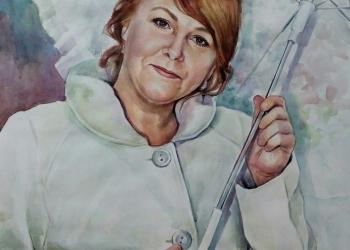 портрет акварель