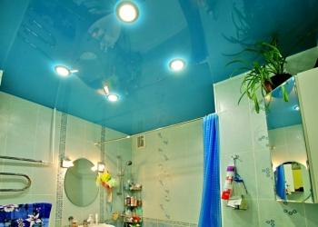 натяжной потолок в ванную и туалет