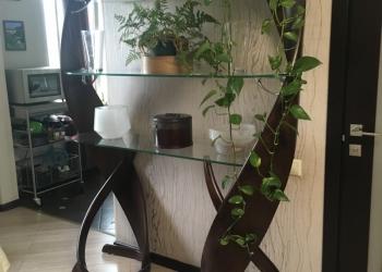 Стильная гостиная мебель  ( стеллаж и напольное зеркало)