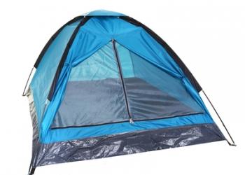 Палатка туристическая 2-х местная, цвет синий