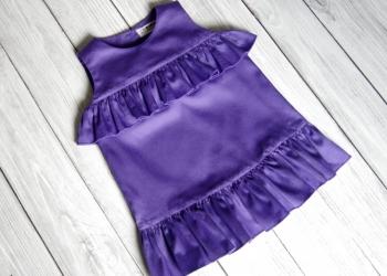 Фиолетовое новое платье для девочки