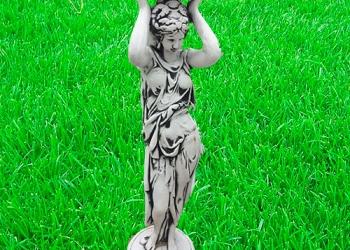 Скульптура из бетона Девушка подиум   выс. 91 см. вес 27 кг.