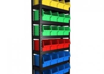 Продам Стеллаж под метизы с пластиковыми ящиками