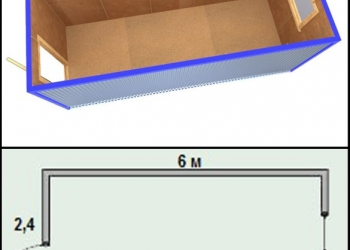 Бытовка Блок-контейнер бк-01 Размер: 6х2.4м